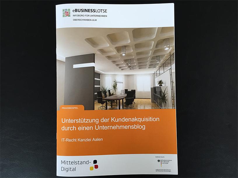 eBusiness-Lotse Oberschwaben: Leitfaden anhand Praxisbeispiel über Rechtsanwalt Michael Richter