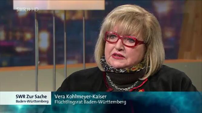 Rechtsanwältin Vera Kohlmeyer-Kaiser als Studiogast im SWR-Fernsehen in Stuttgart