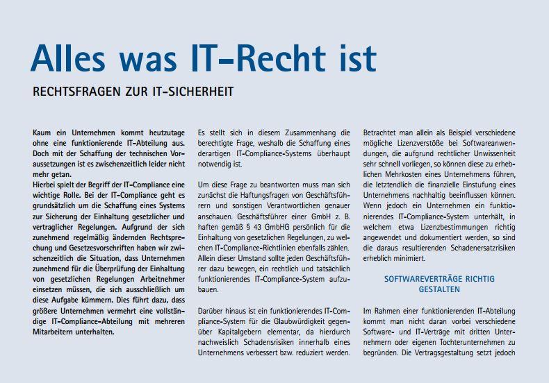 """Redaktioneller Beitrag in IHK- Journal: """"Wirtschaft in Ostwürttemberg"""""""